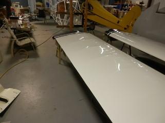 Fabric aircraft recovering and restoration near Lonoke Arkansas